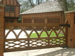 Special wooden driveway gate commission