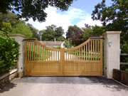 Croft wooden driveway gate